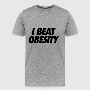 I Beat Obesity - Men's Premium T-Shirt