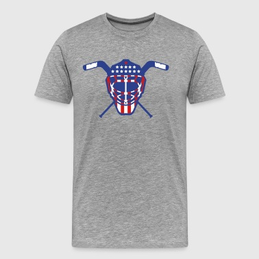 Hockey Goalie Mask Helmet USA - Men's Premium T-Shirt