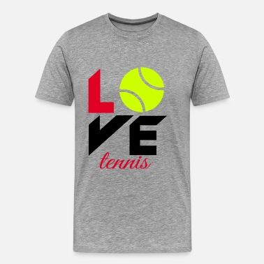 Tennis Love Love tennis - Men's Premium T-Shirt