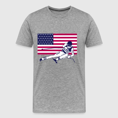 ski alpine - ski - usa - Men's Premium T-Shirt