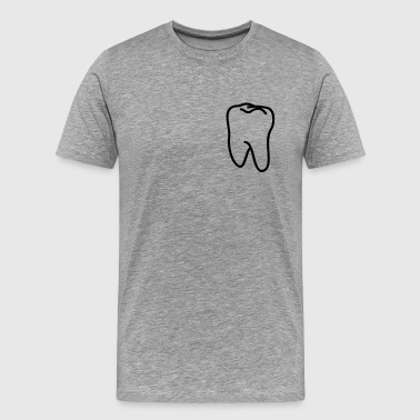 teeth - tooth - Men's Premium T-Shirt