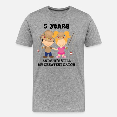 5th Anniversary 5th Anniversary Gift for Husband - Men's Premium T-Shirt