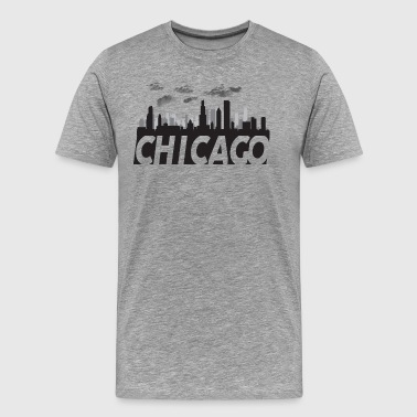 Illinois Prairie State Chicago Illinois Skyline - Men's Premium T-Shirt