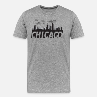 Windy City Chicago Illinois Skyline - Men's Premium T-Shirt