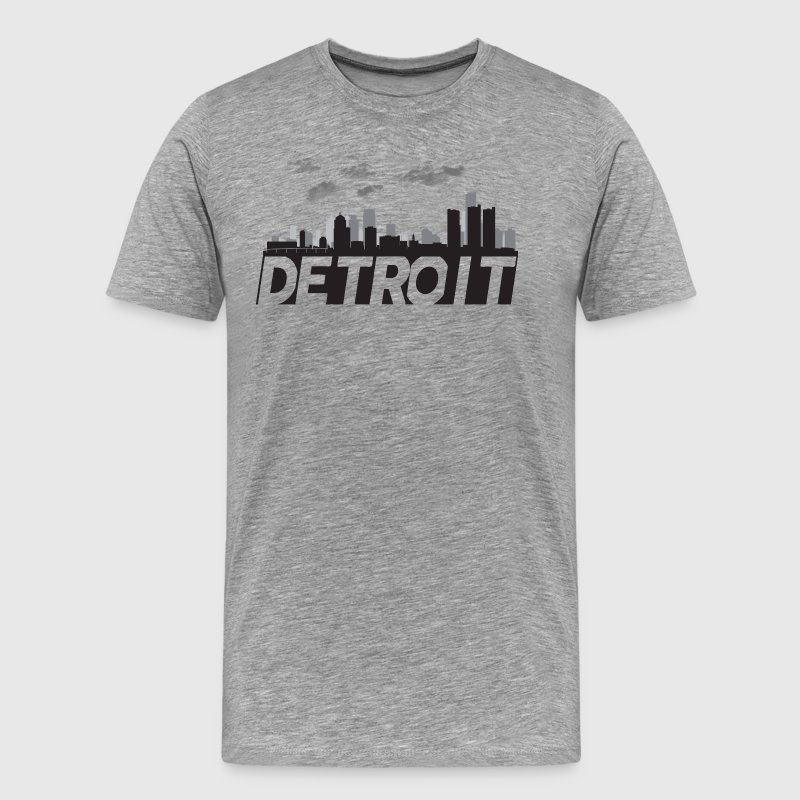 Detroit Michigan Skyline Motown Motor City - Men's Premium T-Shirt