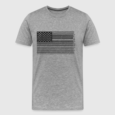 American flag in barcode - Men's Premium T-Shirt