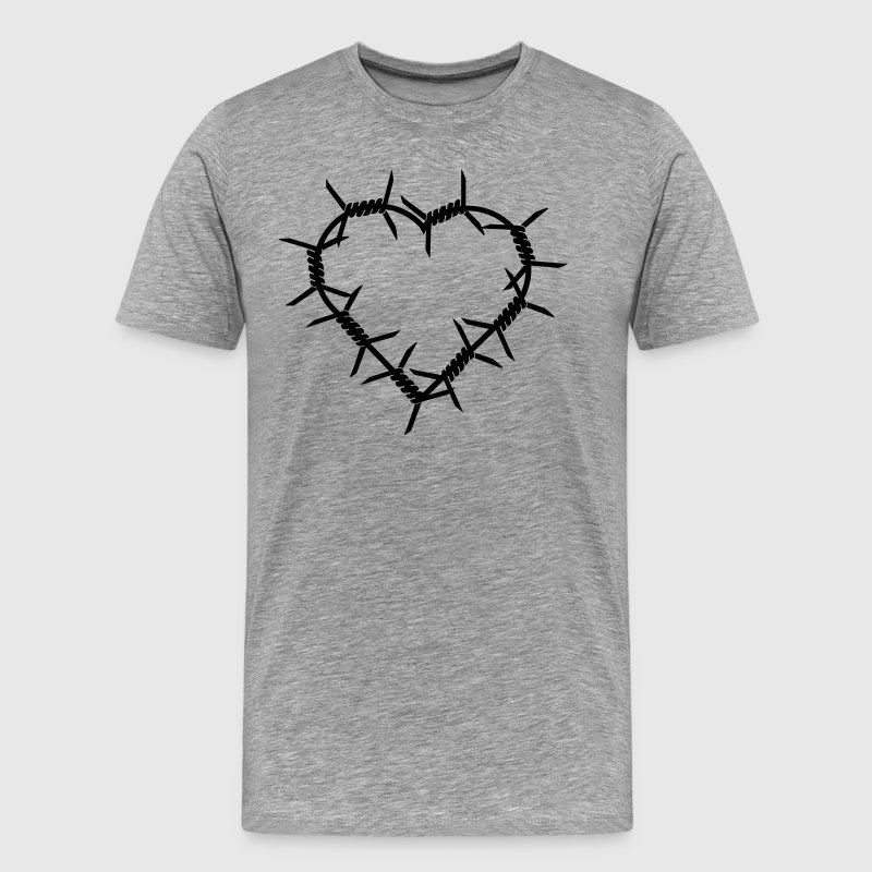 barbed wire heart - Men's Premium T-Shirt