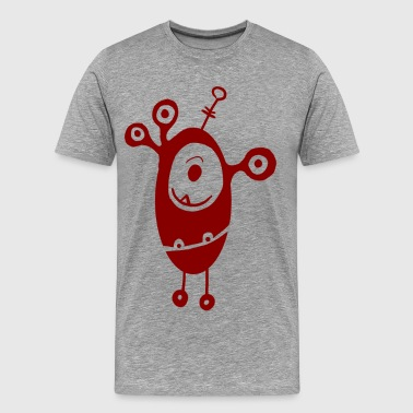 Funny cartoon monsters - Men's Premium T-Shirt
