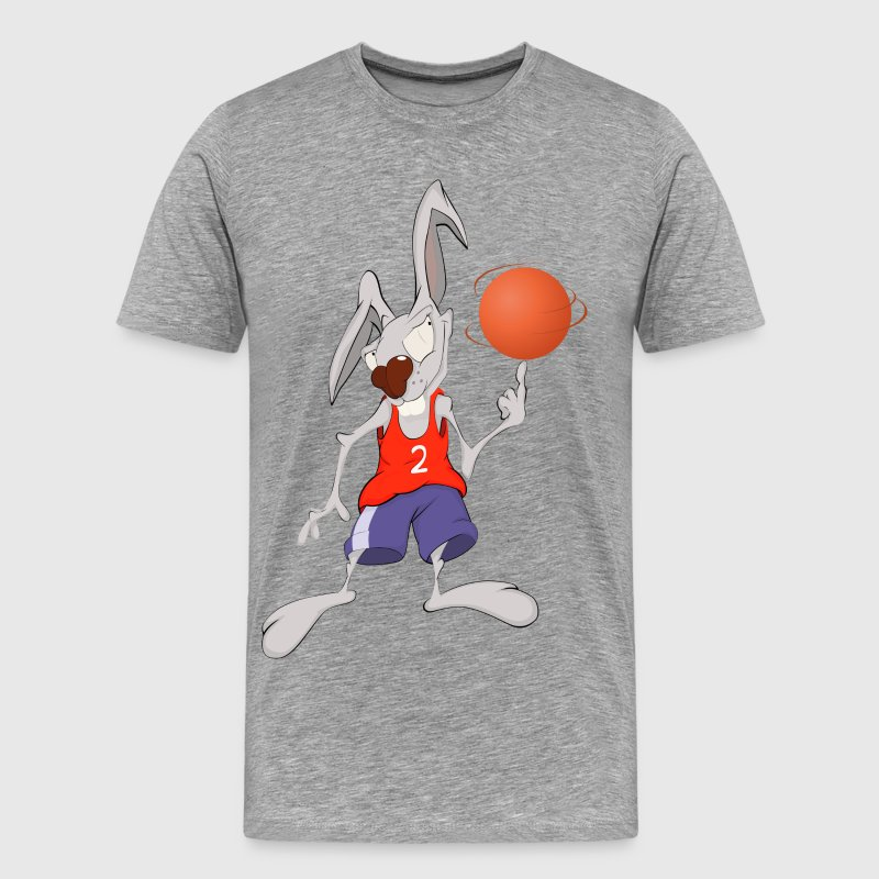 Funny animal goat with basketball - Men's Premium T-Shirt