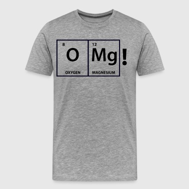 Izombi iZombie OMg Periodic Table Shirt - Men's Premium T-Shirt