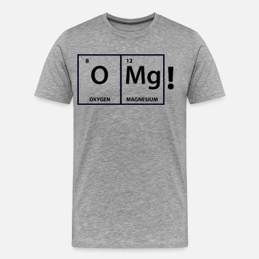 Omg iZombie OMg Periodic Table Shirt - Men's Premium T-Shirt