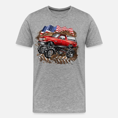 Ford Truck Mud Truck Ford Bronco - Men's Premium T-Shirt