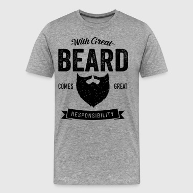 With Great Beard - Men's Premium T-Shirt