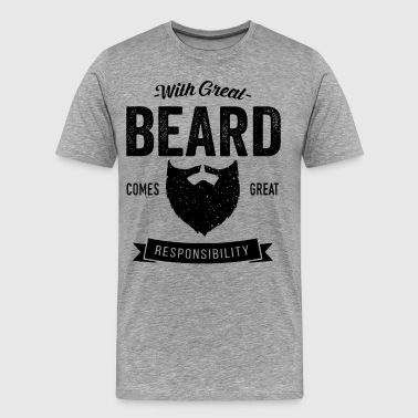 With Great Beard With Great Beard - Men's Premium T-Shirt