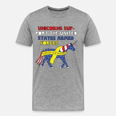 United States Armed Forces United States armed forcees support unicorn - Men's Premium T-Shirt