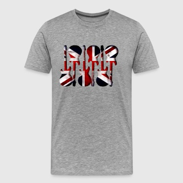 British Flag Guitar Art - Men's Premium T-Shirt