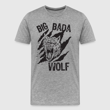 Big Bada Wolf Paw Scratch - Men's Premium T-Shirt