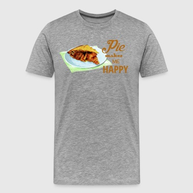 Pie Makes Me Happy - Men's Premium T-Shirt
