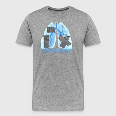 Cystic Fibrosis CF_Lungs_Ductape - Men's Premium T-Shirt