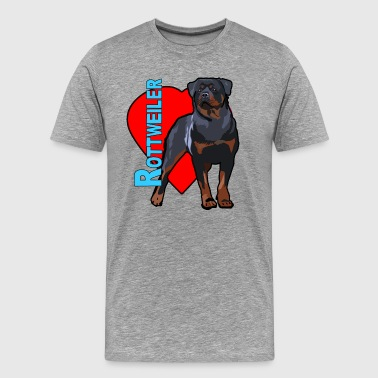 Love A Rottweiler - Men's Premium T-Shirt
