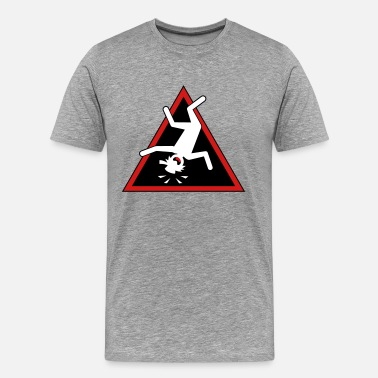Stickmen Stickman Header-1Triangle Placard - Men's Premium T-Shirt