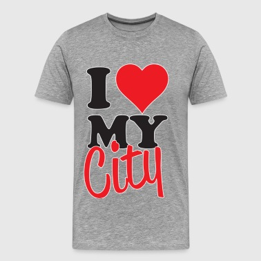 Represent My City I Love My City - Men's Premium T-Shirt