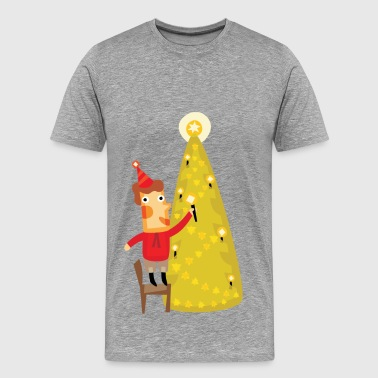 Cute Christmas party character - Men's Premium T-Shirt