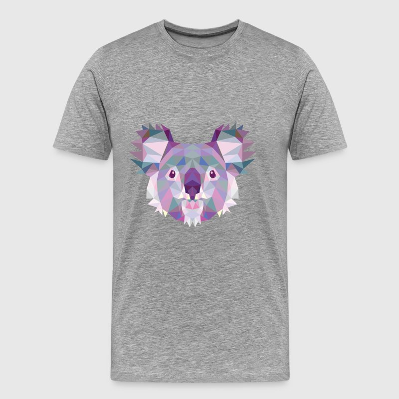 Koala, Coala, Cute, Gifts, Birthday, Polygonal - Men's Premium T-Shirt