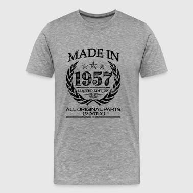 Made in 1957 - 60th Birthday shirt - funny - Men's Premium T-Shirt