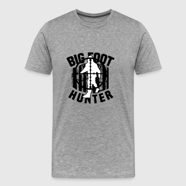Bigfoot Hunter Target Yeti Monster Sasquatch - Men's Premium T-Shirt