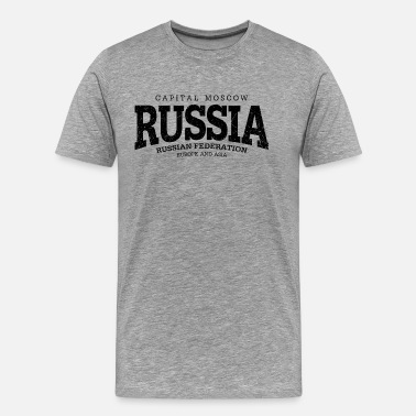 Federation Russia (black oldstyle) - Men's Premium T-Shirt