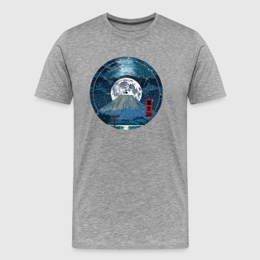 Mt. Fuji Night LP Sky - Men's Premium T-Shirt