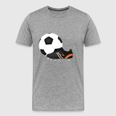 Sports shoe and football - Men's Premium T-Shirt