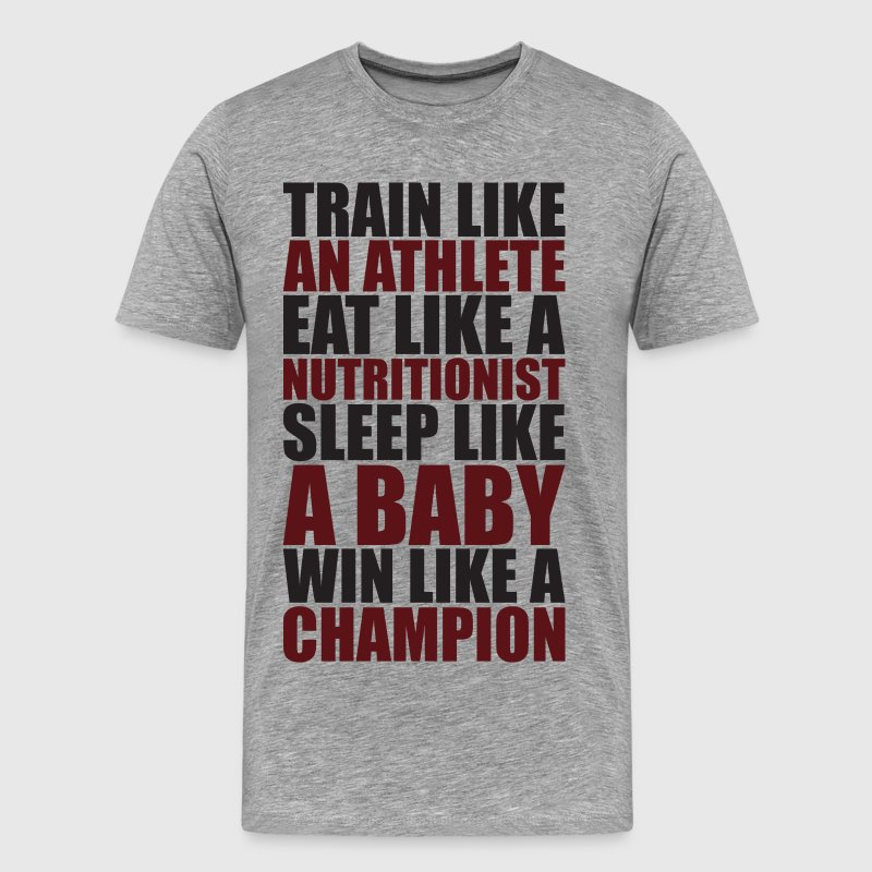 Train Like An Athlete - Men's Premium T-Shirt