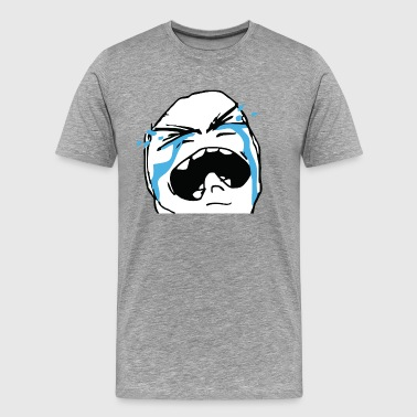 Crying rage face - Men's Premium T-Shirt