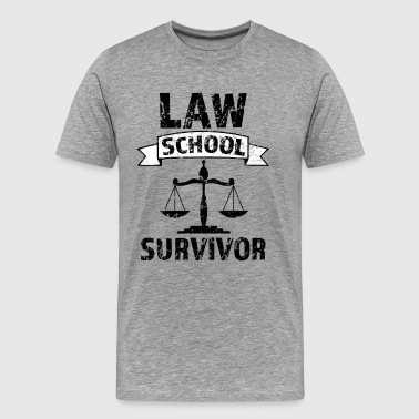 Law School Survivor funny saying attorney shirt - Men's Premium T-Shirt
