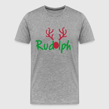 Rudolph Reindeer Of Santa - Men's Premium T-Shirt