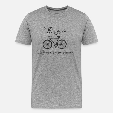 Recycling Bicycles Bicycle Recycle Yesterday Today Tomorrow - Men's Premium T-Shirt