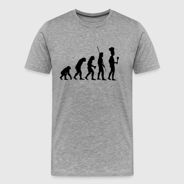 Neanderthal Evolution Evolution cook - Men's Premium T-Shirt