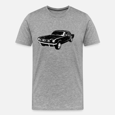 1965 Mustang Coupe 1965 Ford Mustang Coupe - Men's Premium T-Shirt