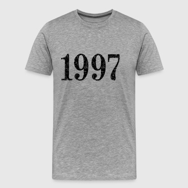 Vintage 1997 Birthday Year (Patinated Black) - Men's Premium T-Shirt