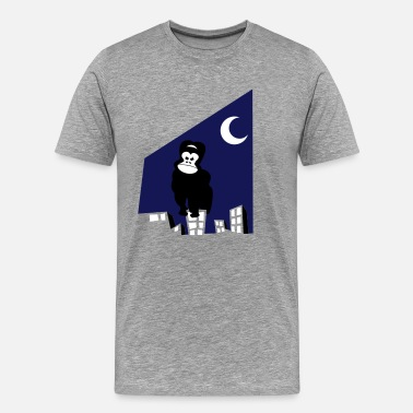 King Kong king kong wants to go home on a city scape - Men's Premium T-Shirt