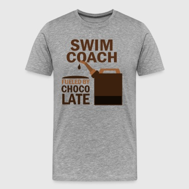Coaching Staff Swim Coach Fueled By Chocolate - Men's Premium T-Shirt