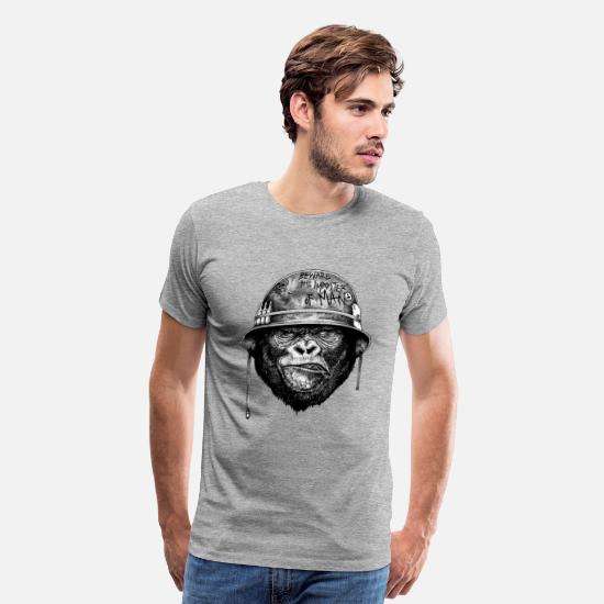 White T-Shirts - The Imposter Man - Men's Premium T-Shirt heather gray