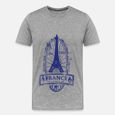 France France stamp art - Men's Premium T-Shirt