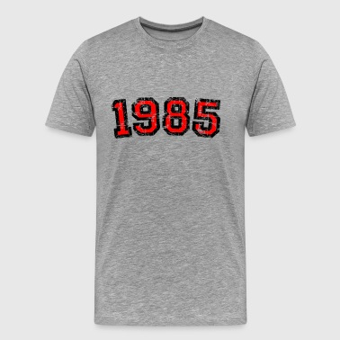 Year 1985 Birthday Design Vintage Red - Men's Premium T-Shirt