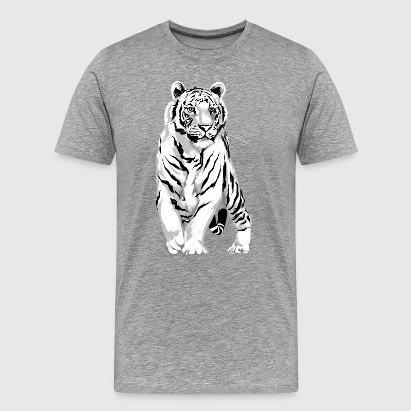 Stately White Tiger - Men's Premium T-Shirt