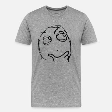 Meme Derp Derp thinking meme - Men's Premium T-Shirt