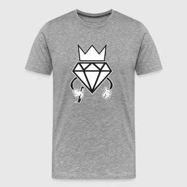 diamond crown graffiti - Men's Premium T-Shirt