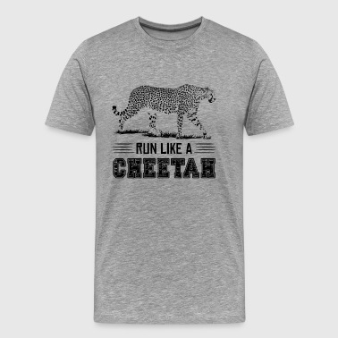 Run Like A Cheetah Shirt - Men's Premium T-Shirt